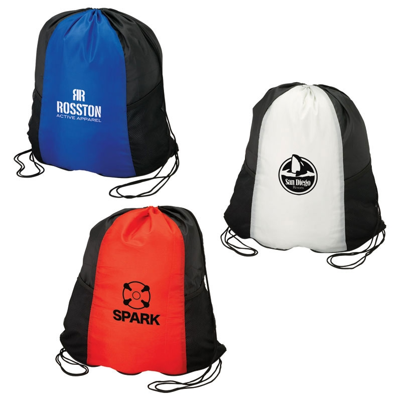 2 Pocket Drawstring Sport Bag