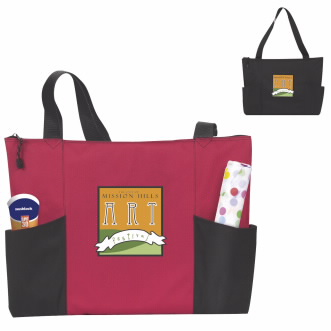 Atchison® Double Pocket Zippered Tote