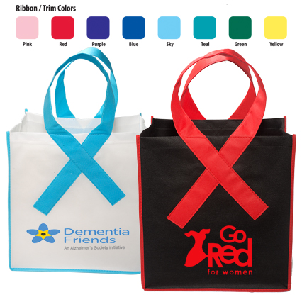 Awareness Ribbon Grocery Shopper Bag - Domestic