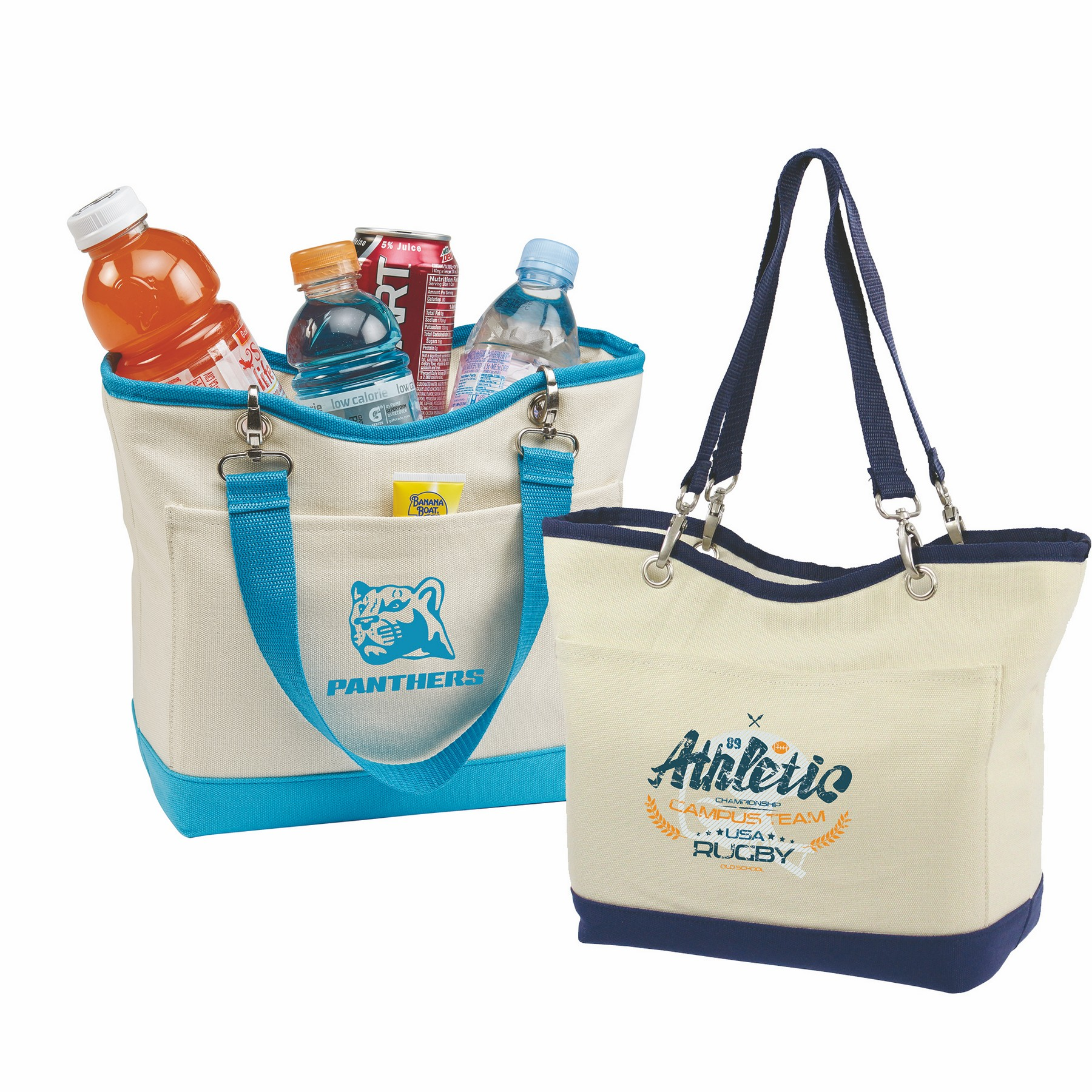 Canvas Mini Boat Tote Cooler