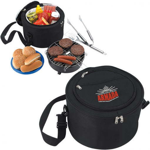 KOOZIE® Portable BBQ w/Cooler Bag