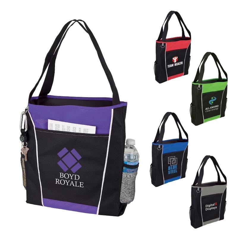 Mesh Side Pocket Tote Bag