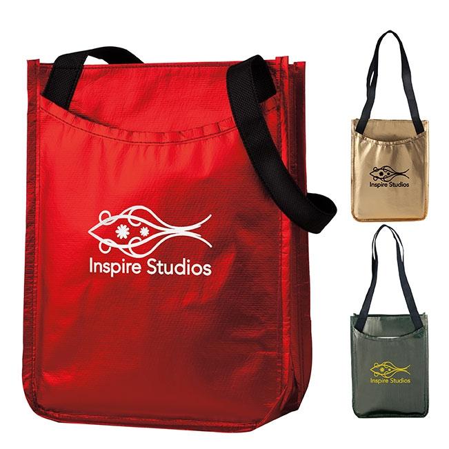 Metallic Non-Woven Gift Tote Bag