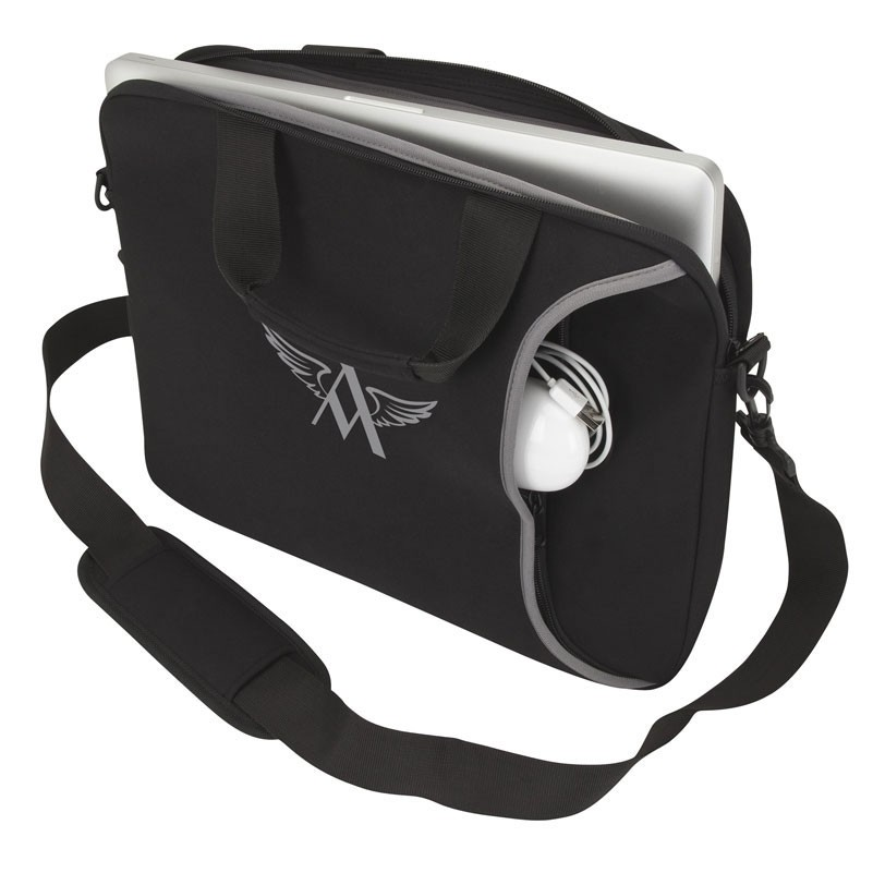 Imitation Neoprene Laptop Case w/Padded Shoulder Strap