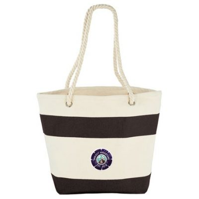 12 oz. Cotton Canvas Capri Stripes Shopper Tote