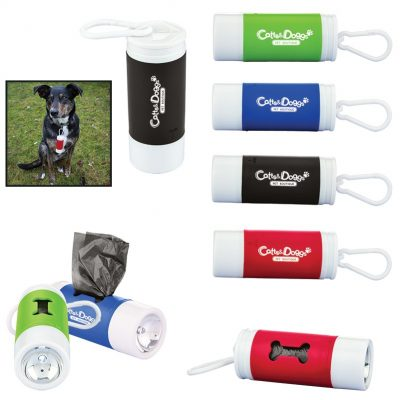 Pet Waste Bag Dispenser with Flashlight