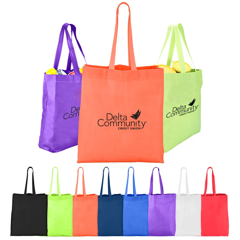 Heat Sealed Non-Woven Value Tote Bag with Gusset