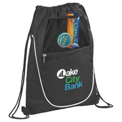 Locker Mesh Pocket Drawstring Bag
