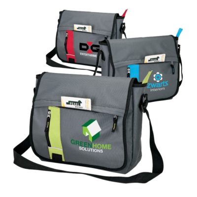 Color Slice Messenger Bag