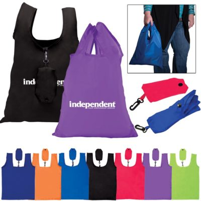 Polyester Folding Grocery Tote Bag