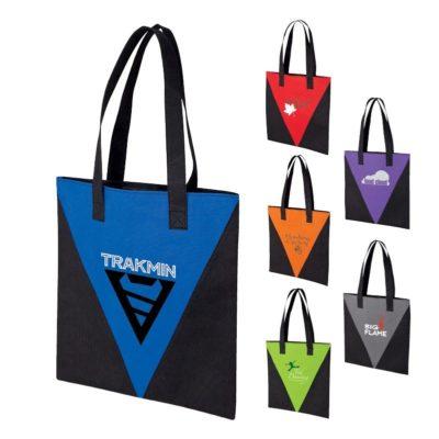 V Design Accent Tote Bag