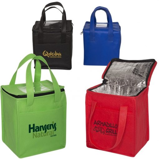 Non-Woven Cubic Lunch Bag w/ID Slot