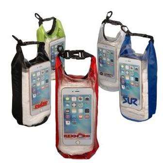 2L Water-Resistant Dry Bag w/Mobile Pocket (Overseas)