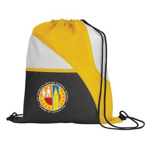 Tri-Color Drawcord Sports Pack Backpack