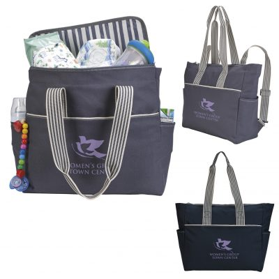 Koozie® Stripe Diaper Tote-Pack